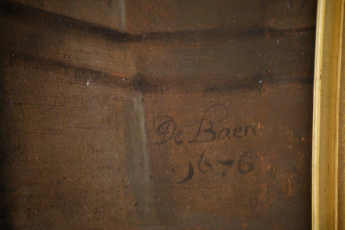 Tableau Signé Par Jan De Baen, Portrait d'Un Gentilhomme -photo-5