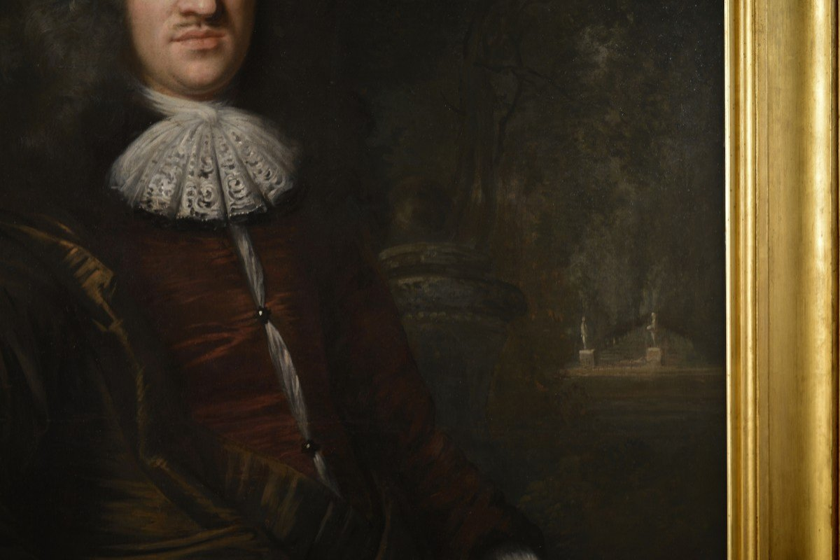 Tableau Signé Par Jan De Baen, Portrait d'Un Gentilhomme -photo-7