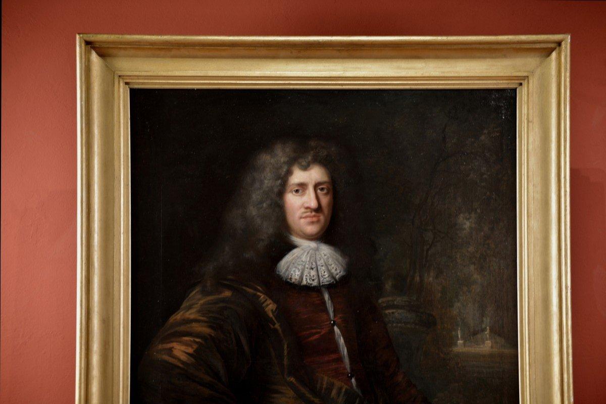 Tableau Signé Par Jan De Baen, Portrait d'Un Gentilhomme -photo-8