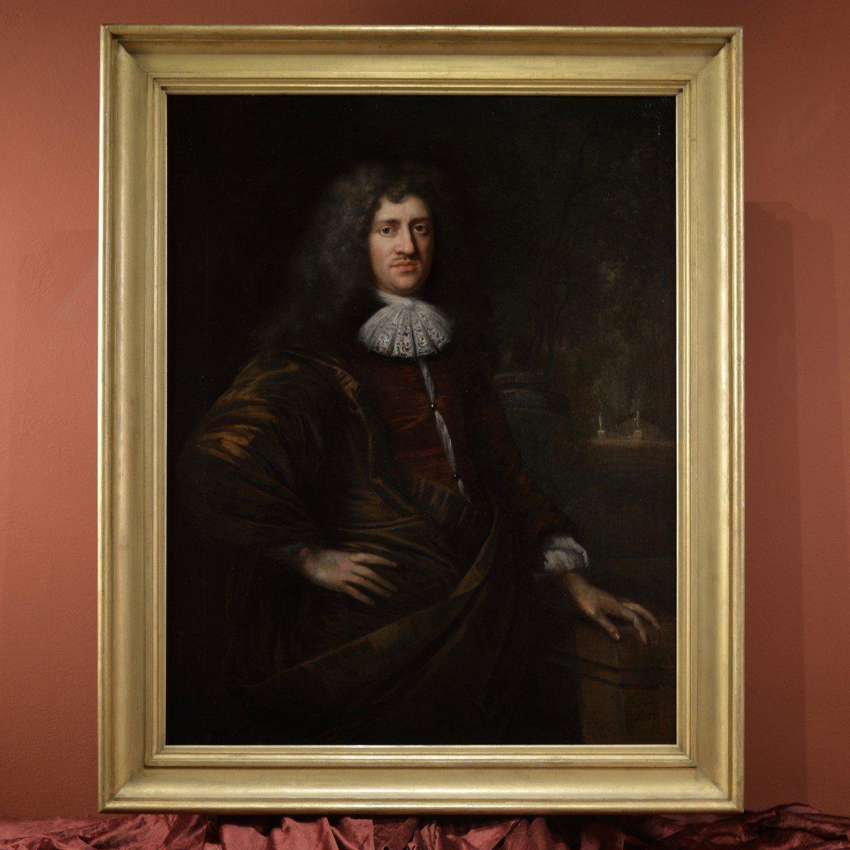 Tableau Signé Par Jan De Baen, Portrait d'Un Gentilhomme