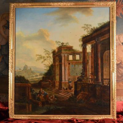 Caprice Architectural, Charles Louis Clérisseau, XVIIIème Siècle