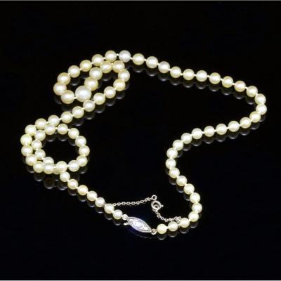 Collier de perles japonais XXe siècle