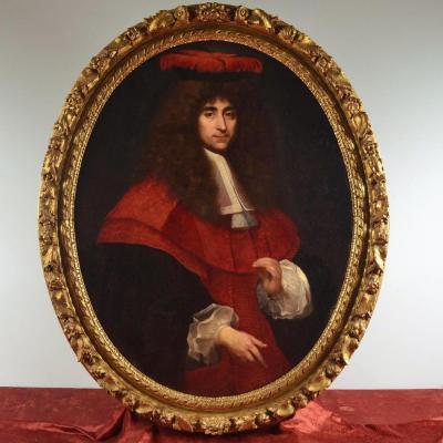 Grand Portrait Du XVIIe Siècle, Jean De Troy 1638 - 1691