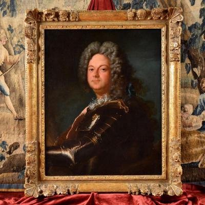 Portrait d'Un Noble En Armure, Atelier De Jean-baptiste Oudry 1686-1755