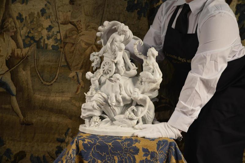 Le Char De Aphrodite, Sculpture De Sèvres Fin Du XVIIIe Siècle-photo-2