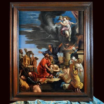 Le Sacrifice d'Iphigénie, Entourage De Sébastien Bourdon XVIIe Siècle