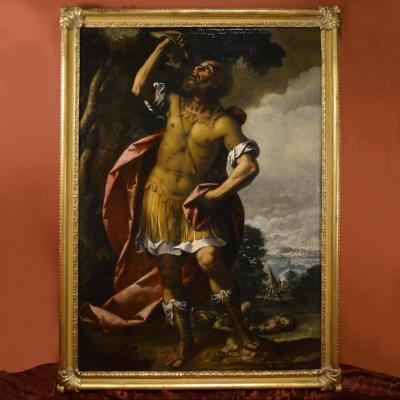 La Victoire De Samson, Stefano Danedi Dit Le Montalto XVIIe Siècle