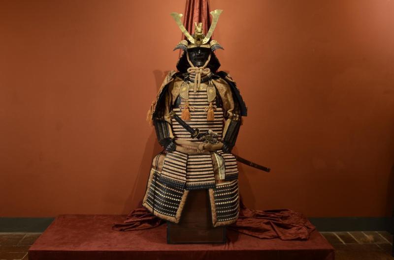 Armure Complète De Guerrier Samouraï-photo-4