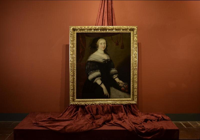 Portrait d'Une Femme,  Jacobs Van Den Tempel  ( 1622 -1672)-photo-2