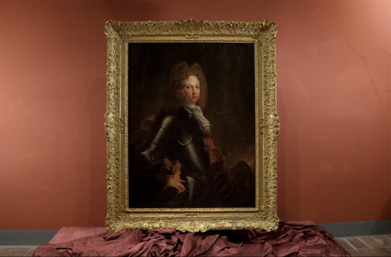 Début Du XVIIIe Siècle, Portrait d'Un Chevalier En Armure, François Jouvenet-photo-2