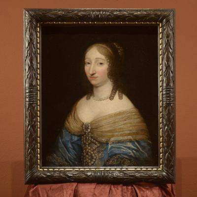 Portrait De La Reine De France Et De Navarre, épouse De Louis XIII