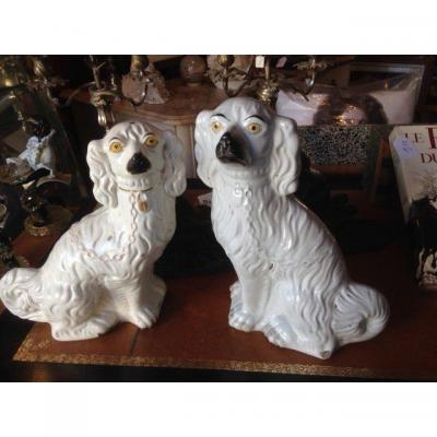 Berwick, Couple Of Dogs In English Faience