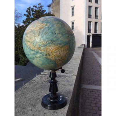 Grand Globe Terrestre Du XIXeme Siècle