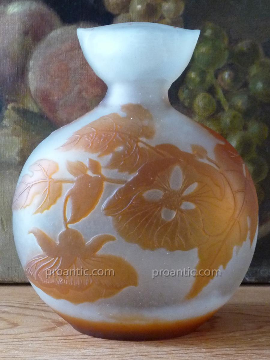 Vase de forme gourde Signe Gallé