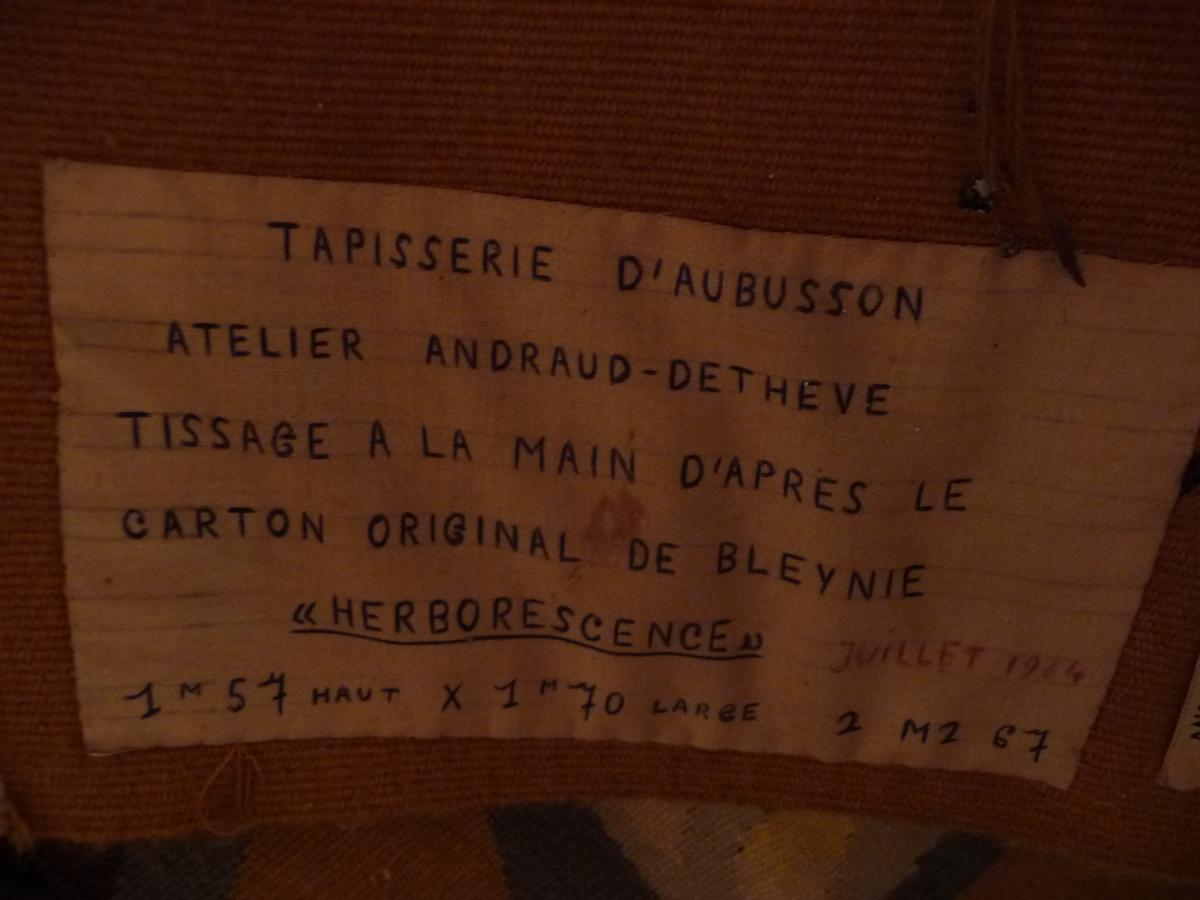 Tapisserie D 'aubusson  De 1964