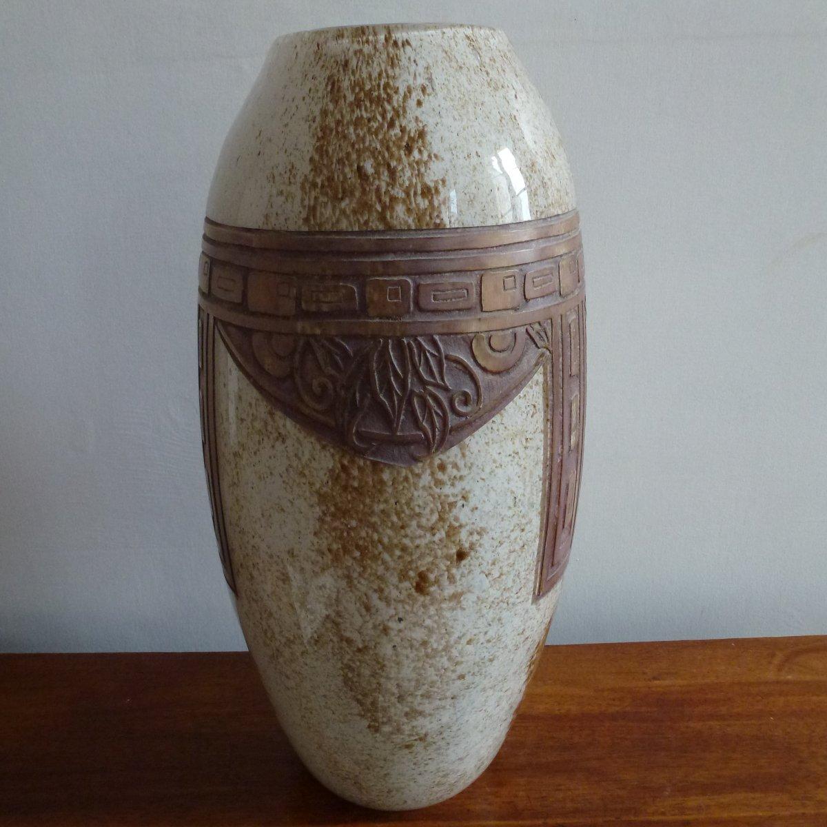 Grand Vase Signed Legras