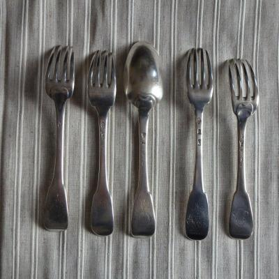 4 Forks And 1 Silver Spoon XVIII (disassembled)