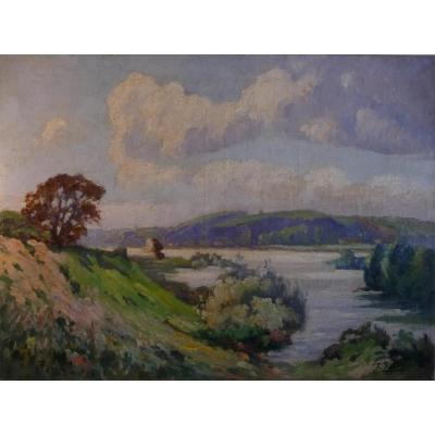 François Ribbrol: The Loire In St Marc (near Tours)