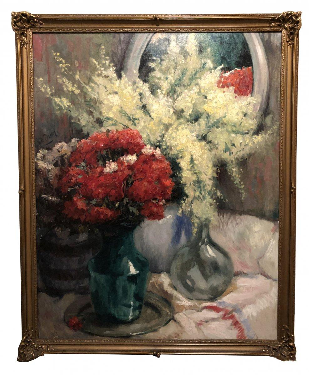 René De Pauw (pittem-tielt 1887 - Brussels 1946) - Still Life With Flowers