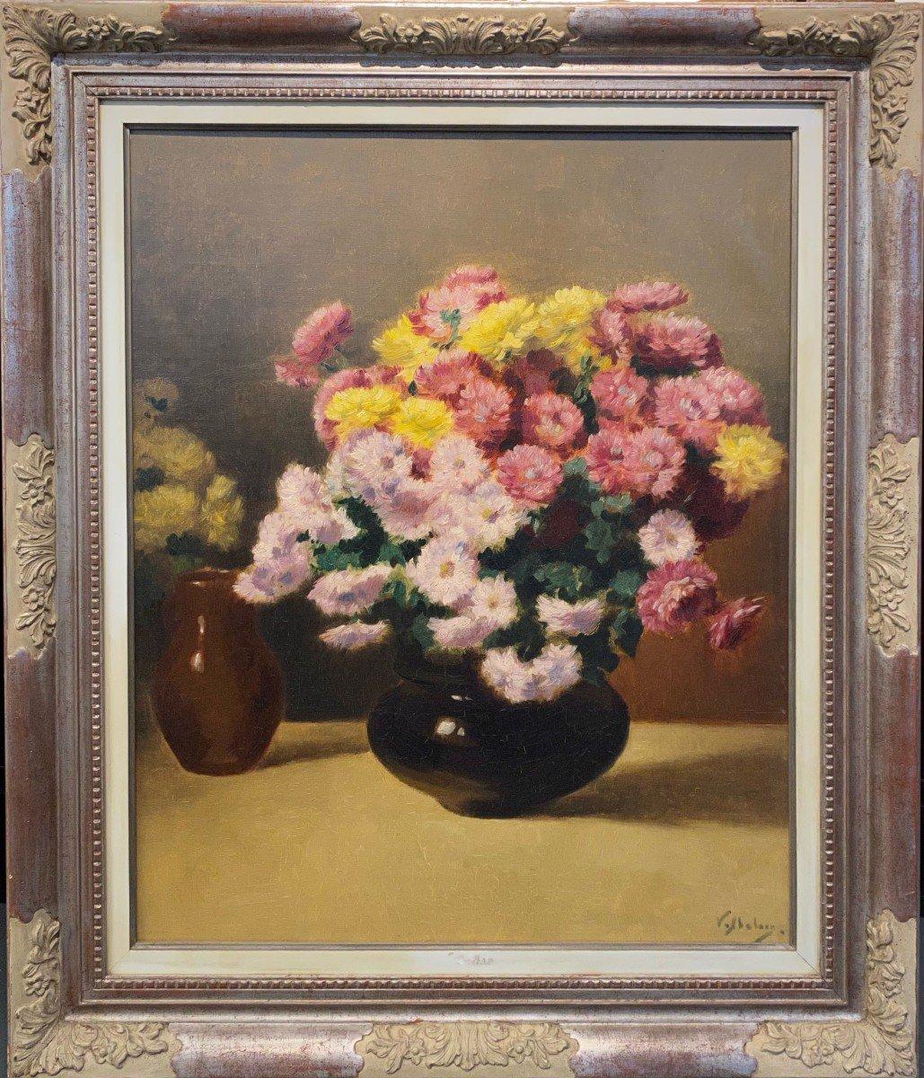 Victor Abeloos (saint-gilles 1881 - Ixelles 1965) - Nature Morte Aux Fleurs