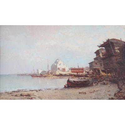 Henri Durand Brager (france 1814 – Le Caire 1879) - Détroit De Bosphore