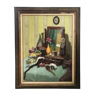 Henri Thomas (bruxelles 1878 - 1972) - Coiffeuse