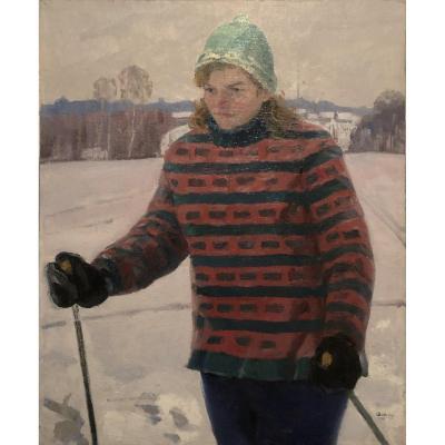 Nikolaj Sokolov (1958 - Russia) - Ski Girl