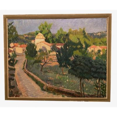 Albert Lemaître (liège 1886 - Melhars 1975) - Village