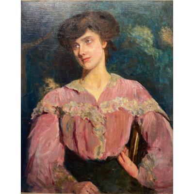 Portrait De Femme - Signature à Définir