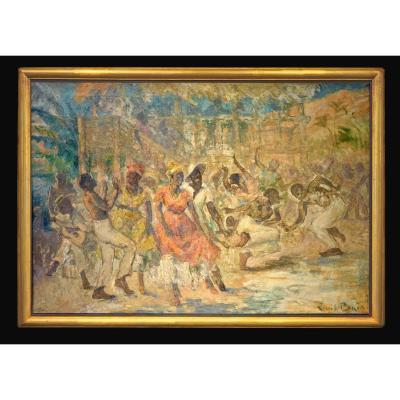 Emile Baes (bruxelles 1879 - Paris 1954) - La Fête Antillaise