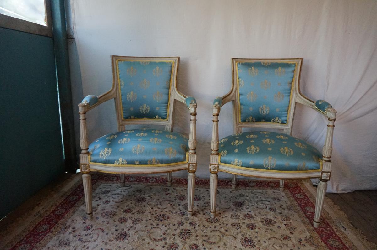 Paire De Fauteuil De Style Directoire
