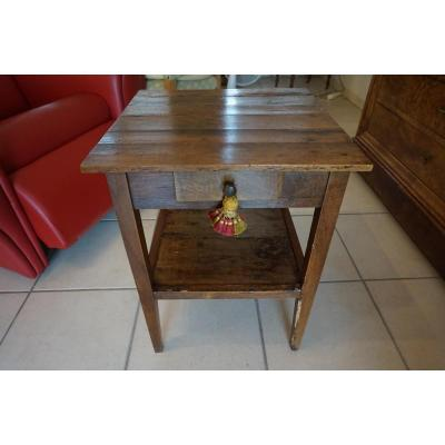 Small Walnut Pedestal Table