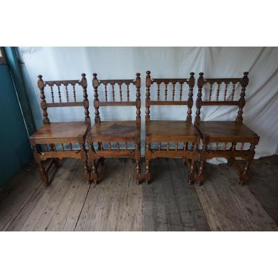 Suite Of 4 Spanish Chairs