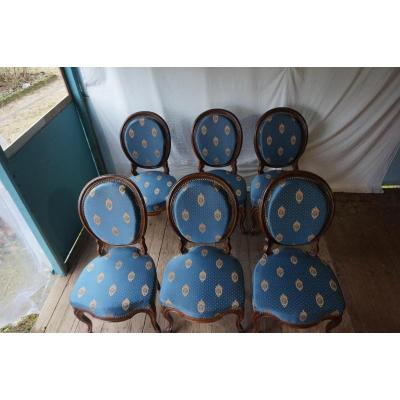 Suite Of 6 Napoleon III Chairs