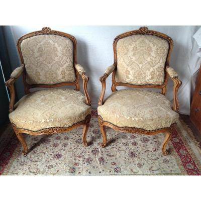 Pair Of Louis XV Armchair