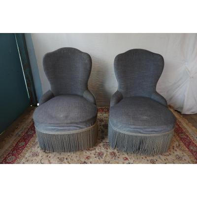 Pair Of Armchair Crapaud