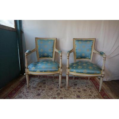 Pair Of Directoire Style Armchair