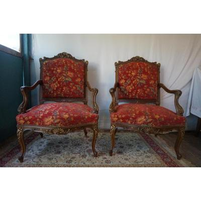 Pair Of Armchair Epoque Napoleon III