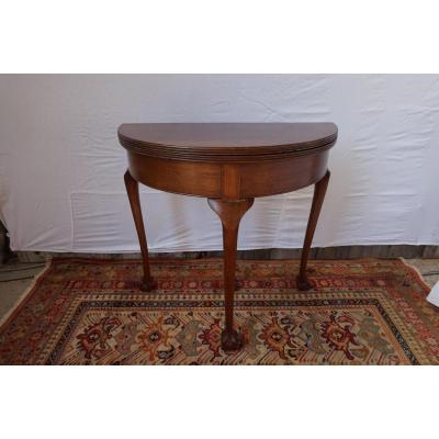 Table A Jeux Demi-lune Style Chippendale