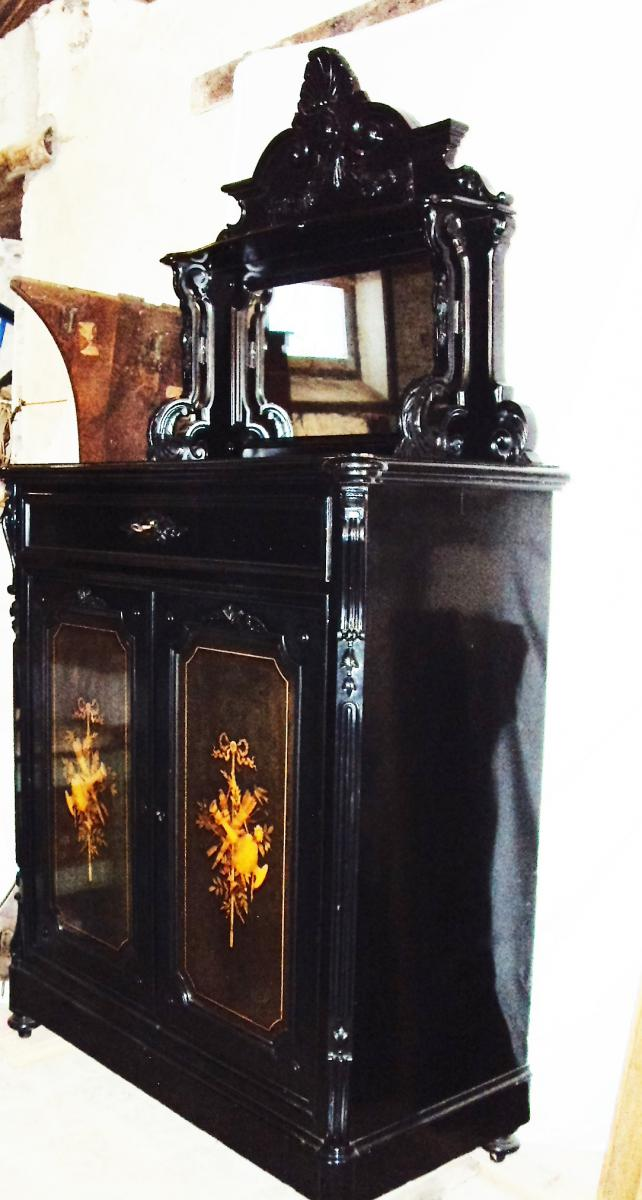 buffet vaisselier laqu marqueterie poque napol on iii buffets enfilades. Black Bedroom Furniture Sets. Home Design Ideas