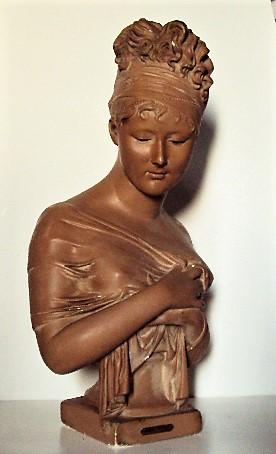Sculpture Bust Of Madame Juliette Recamier After Joseph Chinard