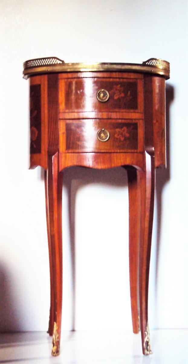 Petite Table d'Appoint Salon Chevet Marqueterie de bois Précieux De St. Transition