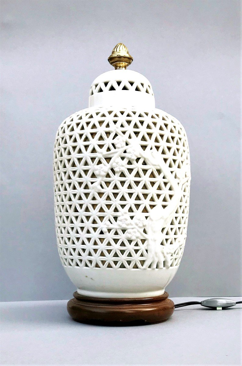 Lampe D ' Ambiance Porcelaine Blanche Chine