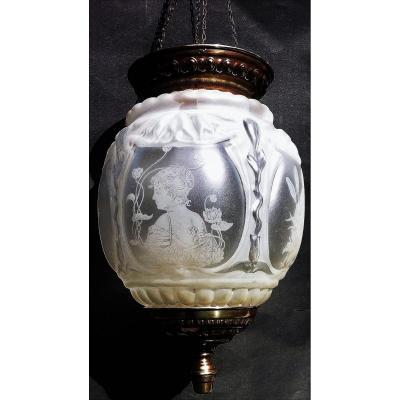 Lanterne Art-nouveau  Les Quatre Saisons MUCHA/GRASSET