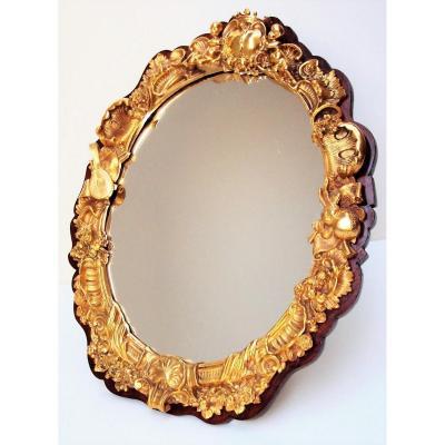 Miroir En Bronze Doré XIXème Siècle travail Parisien attri. GIROUX