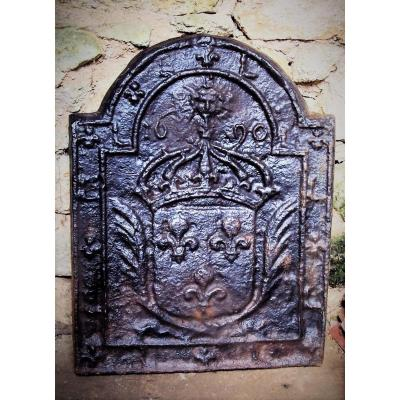 Fireplace Plate Louis XIV King Sun Coat Of Arms Of France