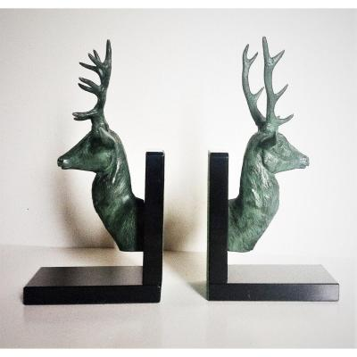 Pair Of Deer Bookends