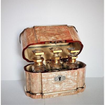 Coffret à Senteurs ( Parfums) En Nacre Rose Tahan à Paris époque Napoléon III