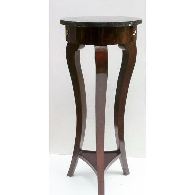 Pedestal Table - Restoration Period In Mahogany Veneer From Cuba
