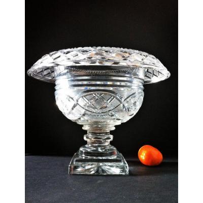 Bacarat Coupe Surtout De Table en cristal    Charles X 1828